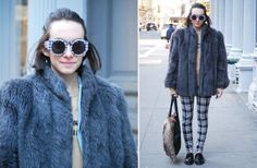Street Style: Annie Mixes Textures and Prints Like a Pro