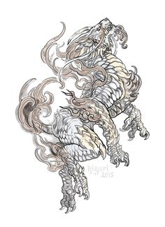 xie zhi tattoo design for a client Tattoo Sketches, Tattoo Drawings, Body Art Tattoos, Sleeve Tattoos, Japanese Tattoo Art, Japanese Tattoo Designs, Japanese Art, Mythological Creatures, Mythical Creatures