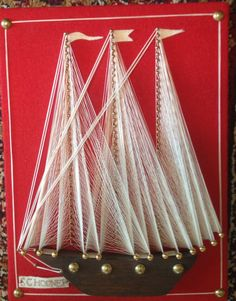 Schooner String Art by lishyloo on Etsy, $15.00