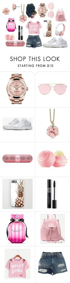 """""""Slayyyy"""" by mercedezs on Polyvore featuring Rolex, LMNT, NIKE, 1928, Beats by Dr. Dre, Christian Dior, Victoria's Secret and River Island"""