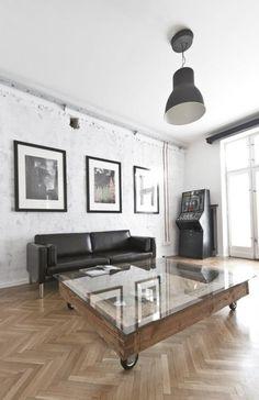 herringbone floors #pallet coffee table