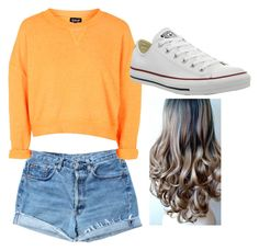 Untitled #29 by jessie2705 on Polyvore featuring polyvore, fashion, style, Topshop, Levi's and Converse
