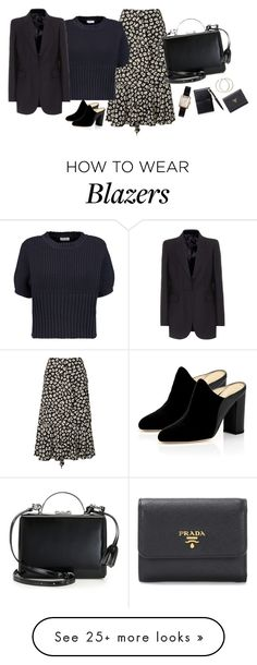 """Untitled #5121"" by memoiree on Polyvore featuring Proenza Schouler, Joseph, Marion Parke, Mark Cross, Chanel, Cartier and Prada"