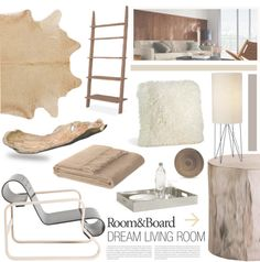 """""""Room & Board Dream Living Room Contest Entry"""" by southernpearldesigns on Polyvore"""