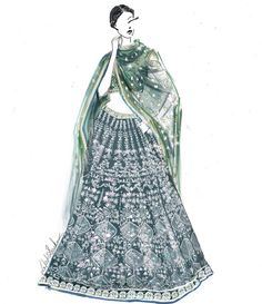 Posts about indian fashion illustration written by lakshsarkar Wedding Dress Sketches, Dress Design Sketches, Fashion Design Drawings, Fashion Sketches, Dress Illustration, Fashion Illustration Dresses, Fashion Design Template, Fashion Drawing Dresses, Fashion Figures