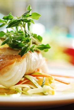 Halibut with Lemon Herb Vinaigrette