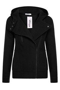 Meaneor Women's Slim Fit Fleece Zip-up Hoodie Jacket Coat w/ Zipper Point