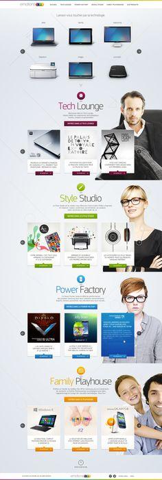Web Design – Emotions Lab by Samsung