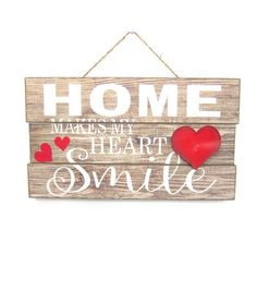 Valentine's Day Wall Decor-Home Makes My Heart Smile