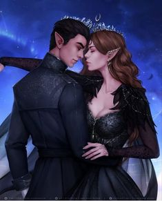 A Court Of Wings And Ruin, A Court Of Mist And Fury, Throne Of Glass, Fanart, Feyre And Rhysand, Sarah J Maas Books, Crescent City, Look At The Stars, Rose Art