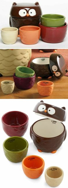 Owl Measuring Cup Set ♥
