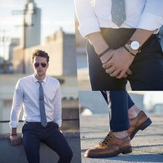 corbata looks moda semana