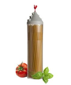 Spaghetti Tower — This container will store your uncooked noodles and dispense the perfect amount.