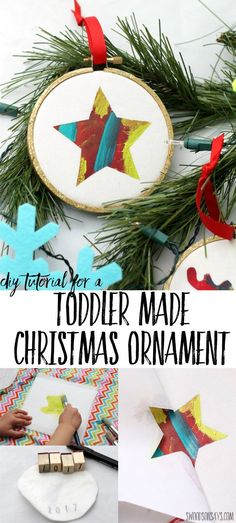 christmas ornament that toddlers can help make