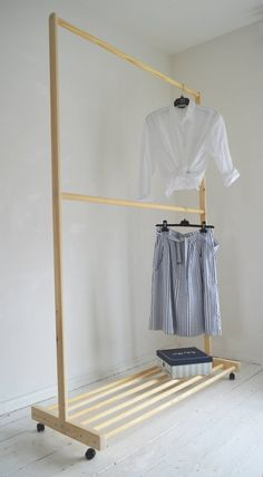 Home Discover Partisi Hand Made Pine Wood Two Rails for Clothes with Shelf and Wood Clothing Rack Wooden Clothes Rack Diy Clothes Rack Clothes Rail Clothing Storage Shelves For Clothes Placard Simple Closet Bedroom Bedroom Decor Wood Clothing Rack, Wooden Clothes Rack, Diy Clothes Rack, Clothes Rail, Clothes Storage, Cheap Diy Home Decor, Placard Simple, Boutique Interior, Pine Design