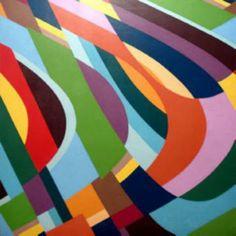 Artista: BÖER, Gabriela El sonido de mi respiración 2009 Acríl/TE 100x100 cm