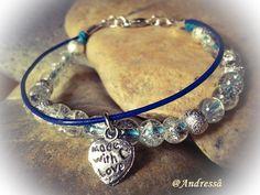 Armband  ♥   Blue Water   ♥ von Andressâ auf DaWanda.com