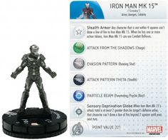 Iron Man Mk 15 #010 Marvel Heroclix Iron Man 3 Movie
