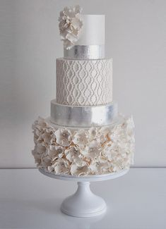 Wedding Trends : Metallic Cakes - Belle the Magazine . The Wedding Blog For The Sophisticated Bride