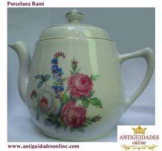 Porcelana Rami Bule Antigo com Decoração de Rosas  http://www.antiguidadesonline.com/porcelana/porcelana-rami/index.php