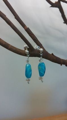 Hey, I found this really awesome Etsy listing at https://www.etsy.com/listing/173559816/teal-and-silver-beaded-earrings