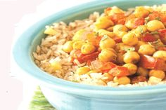 Lower Cholesterol Recipe - curried chickpeas plant based diet