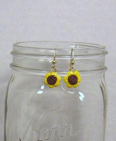Sunflower Earrings by GingerbreadFaire