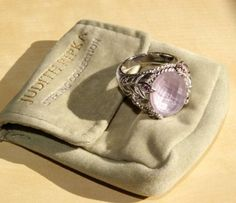 For Sale on Ebay:  Judith Ripka Sterling Rose de France Amethyst Rhodolite Butterfly Heart Ring Sz 8