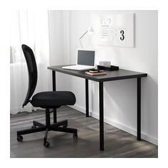 LINNMON / ADILS Table - black-brown/black - IKEA