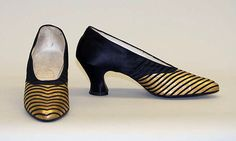 Evening pumps, Hook, Knowles & Co. (British), 1920s