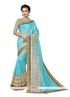 Modern Banarasi Silk Patch Border Work Designer Saree