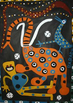 Malerei aus Simbabwe- Afrika