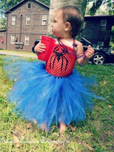 Miss Spiderman Tutu Dress by HarleiciousTutus on Etsy