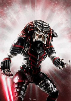 I like Star Wars - but Predator is another all-time classic sci-fi movie. So I thought it would be cool to merge both of those universes - and here& my depiction of a & Predator& Can you imag. Alien Vs Predator, Predator Cosplay, Predator Alien, Predator Costume, Wolf Predator, Star Wars Sith, Star Trek, King Kong, Alien Art