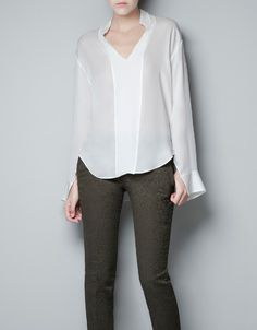 STUDIO BLOUSE WITH BIB FRONT - Shirts - Woman - ZARA Turkey