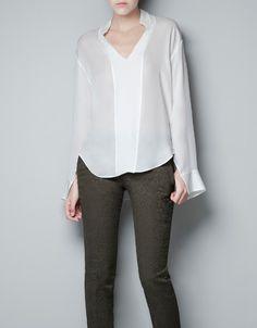 BLUSA STUDIO PECHERA - Camisas - Mujer - ZARA