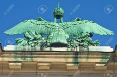 Picture of Architectural and imperial heraldry details on Hofburg palace in Vienna, Austria stock photo, images and stock photography. Vienna Austria, Statue Of Liberty, Palace, Stock Photos, Architecture, Detail, Creative, Pictures, Photography