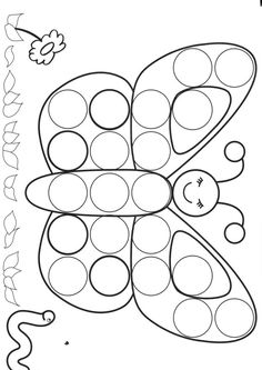 dessin papillon Fisher Tips Spring Activities, Toddler Activities, Preschool Activities, Preschool Worksheets, Preschool Crafts, Preschool Bug Theme, Toddler Crafts, Crafts For Kids, Do A Dot