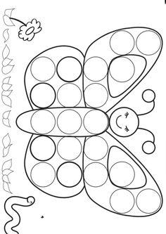 dessin papillon à gomettes