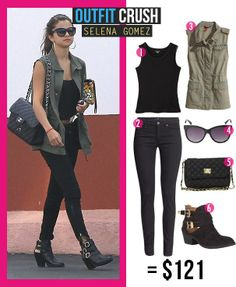 Selena Gomez outfit,love it, casual