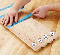 Putting tape on boards
