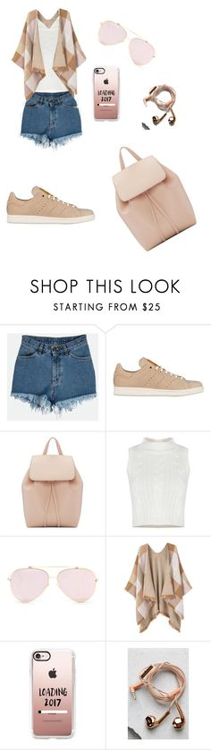"""Untitled #6"" by fatima-263 ❤ liked on Polyvore featuring adidas Originals, Mansur Gavriel, MANGO, Casetify and Happy Plugs"