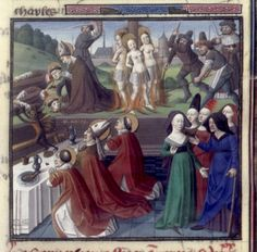 Miracle of St. Narcissa (BNF Fr. 51, fol. 91), Speculum historiale, 1463
