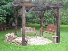 Like the idea of this....want a little larger with round fire pit in the middle and sitting arrangements around it