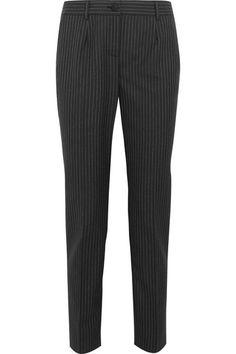 Dolce & Gabbana | Pinstriped wool slim-leg pants | NET-A-PORTER.COM