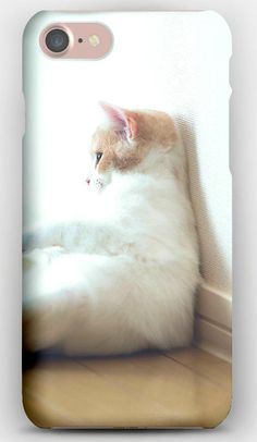 iPhone 7 Case Cat, Sitting, Thick, Wall