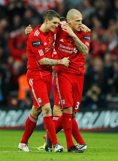 Daniel Agger and Martin Skrtel - Liverpool v Cardiff City - Carling Cup Final