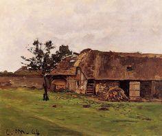 Ferme+près+de+Honfleur+(C+Monet+-+W+36)1864