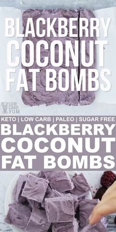 These sugar free blackberry coconut fat bombs are low carb and Paleo. Eat them between meals to stay in ketosis on a ketogenic diet during weight loss. // paleo snack recipes // paleo snack ideas // s Keto Diet List, Best Keto Diet, Ketogenic Diet Meal Plan, Diet Meal Plans, Ketogenic Recipes, Keto Recipes, Healthy Recipes, Blackberry Recipes Paleo, Healthy Snack Recipes For Weightloss
