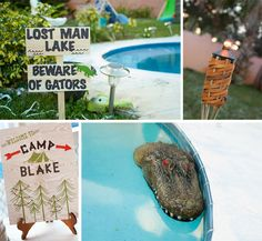 Camping Party @The Pear {prettymyparty.com} #camping #party